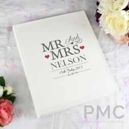 Personalised Mr & Mrs Traditional Album